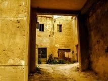 Bauernhaus in Castelvetrano an einem sonnigen Tag Lizenzfreies Stockfoto