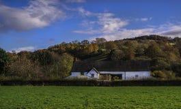 Bauernhaus in der Herefordshire-Landschaft Stockfoto