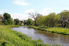 Bauernhaus in Fluss 'Gein' Stockfoto