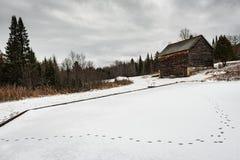 Bauernhaus im Winter - Adirondacks Lizenzfreie Stockfotografie