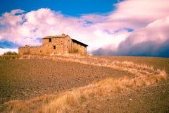 Bauernhaus-Italien-Landschaft Lizenzfreie Stockfotografie