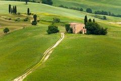 Bauernhaus in Toskana lizenzfreies stockfoto