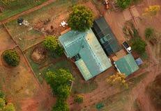 Bauernhaus von der Luft Lizenzfreie Stockfotografie