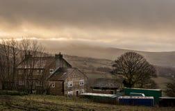 Bauernhausbriten-Landschaft Stockfotos