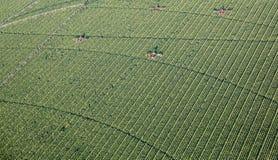 Bauernhof-Arbeits-Antennen-Foto stockfotografie