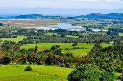 Bauernhof auf der Pazifikküste Stockfotografie