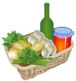 Bauernhof-biologisches Lebensmittel Stockfotos