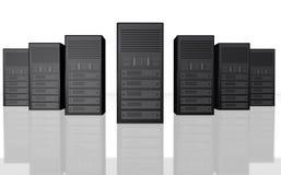 Bauernhof-Computerabbildung des Servers 3D vektor abbildung