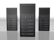 Bauernhof-Computerabbildung des Servers 3D lizenzfreie abbildung