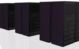 Bauernhof-Computerauslegung des Servers 3D stock abbildung