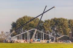 Bauernhof, der konstruiert wird Stockbilder
