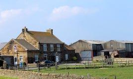 Bauernhof in der Landschaft Stockfotografie