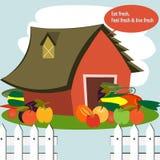 Bauernhof für Frischgemüse Stockbilder