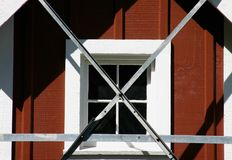 Bauernhof-Fenster Stockfotos