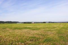 Bauernhof-Flächeninhalt im Fraser Tal Stockbilder