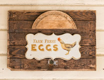 Bauernhof-frische Eier Lizenzfreie Stockfotos