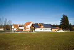 Bauernhof-Häuser, Deutschland Stockfotos