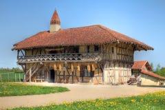 Bauernhof-Haus nahe Bourg-en-Bresse, Frankreich stockbild