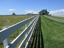 Bauernhof-Haus und Zaun - Pennsylvania Stockbild