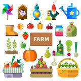 Bauernhof im Dorf vektor abbildung