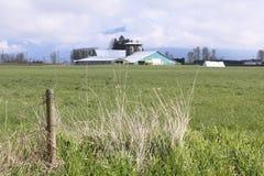 Bauernhof im Fraser Tal Stockfotos