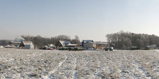 Bauernhof im Winter Stockfotografie