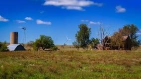 Bauernhof in Kansas stockbild