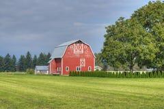 Bauernhof-Land-Szene Lizenzfreie Stockfotografie
