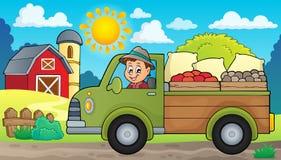 Bauernhof-LKW-Themabild 2 Stockbilder