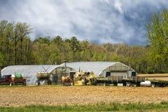 Bauernhof in Maryland Stockbilder