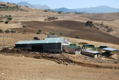 Bauernhof nahe Almogia, Andalusien, Spanien. Lizenzfreie Stockfotos