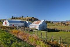 Bauernhof in Quebec Stockbild