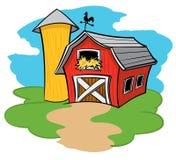 Bauernhof-Scheune stock abbildung