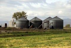 Bauernhof-Silos Stockfotos