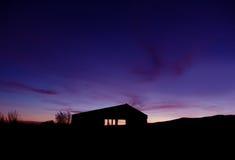 Bauernhof-Sonnenaufgang lizenzfreie stockfotos