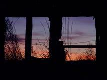 Bauernhof-Sonnenaufgang lizenzfreie stockbilder