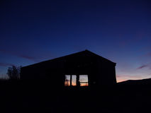Bauernhof-Sonnenaufgang stockfoto