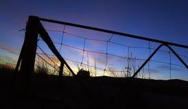 Bauernhof-Sonnenaufgang lizenzfreies stockbild
