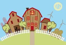 Bauernhof und Ackerland Lizenzfreies Stockfoto