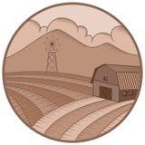 Bauernhof- und Plantagenlogos stockfoto