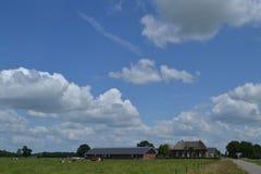 Bauernhof und Scheunen Lizenzfreie Stockbilder
