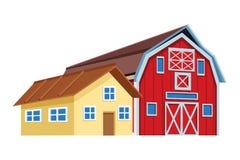 Bauernhof und Stall lizenzfreie abbildung