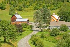 Bauernhof in Woodstock Vermont lizenzfreie stockfotos