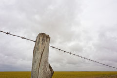 Bauernhof-Zaun Line Stockfoto