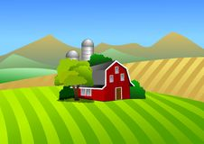 Bauernhofabbildung Stockbild
