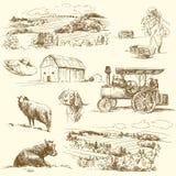 Bauernhofansammlung Stockbild