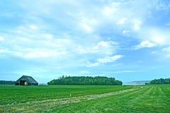 Bauernhoffeld stockbilder