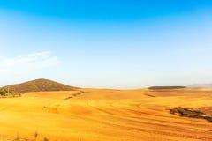 Bauernhoffelder Westkap, Südafrika Stockfotos