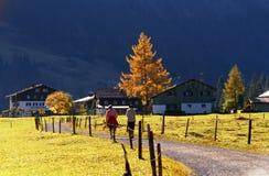 Bauernhofhaus im Tal stockfoto