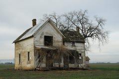Bauernhofhausansicht Stockfotos